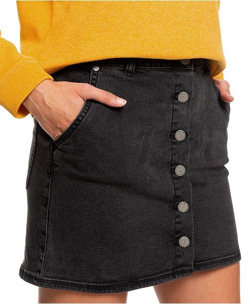 Roxy Juniors' Wild Young Spirit Denim Skirt