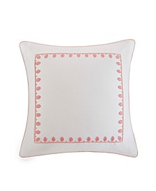"Design Simona 26"" x 26"" Embroidered Cotton Euro Sham"