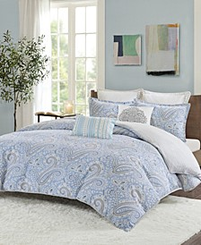Design Bukhara Full/Queen 3 Piece Reversible Cotton Duvet Cover Set
