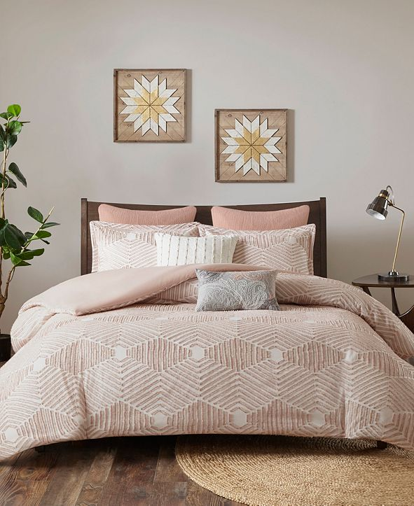 INK+IVY Ellipse Full/Queen 3 Piece Cotton Jacquard Comforter Set