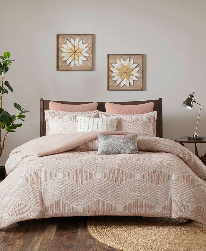 INK+IVY - INK+IVY Ellipse Full/Queen 3 Piece Cotton Jacquard Comforter Set