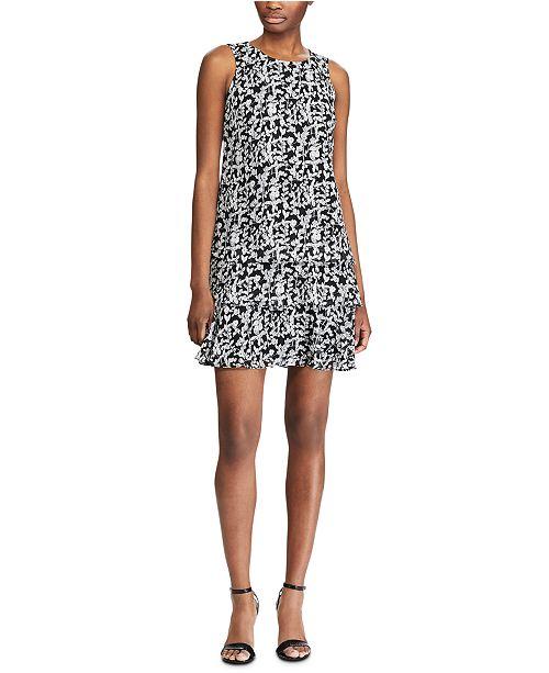 Lauren Ralph Lauren Floral-Print Ruffle-Hem Georgette Dress