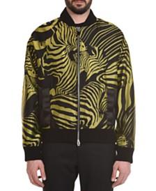 Just Cavalli Men's Jacquard Zebra Print Bomber Jacket