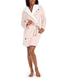 Need Coffee Hooded Plush Robe, Created for Macy's
