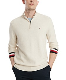 Men's Clifton Quater Zip Logo Sweater