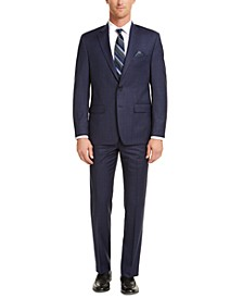 Men's Classic-Fit UltraFlex Stretch Blue Check Suit Separates