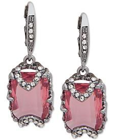 Jenny Packham Hematite Crystal & Stone Drop Earrings