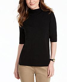 Alfani Elbow-Sleeve Turtleneck Sweater, Created for Macy's