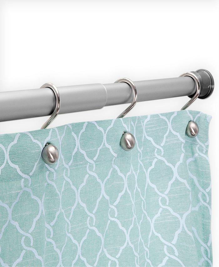 "Kenney - Twist Fit™ No Tools Rust-Proof Aluminum Shower Curtain Rod, 42-72"""