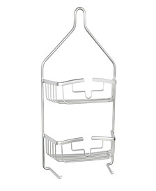Rust-Proof Heavy Duty Aluminum 2-Tier Hanging Shower Caddy