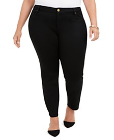 I.N.C. Plus Size Five-Pocket Skinny Pants, Created for Macy's
