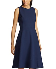 Sleeveless Ponte Fit & Flare Dress