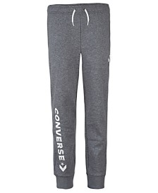 Converse Big Boys Woodmark Logo-Print Fleece Joggers