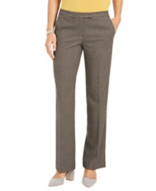 Kasper Houndstooth-Print Straight-Leg Trousers