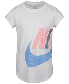 Nike Little Girls Futura-Print T-Shirt