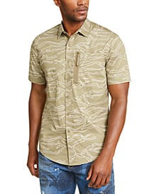 Men's Camouflage Military Flight Short Sleeve Shirt