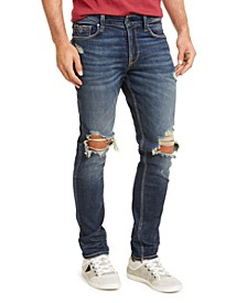 Men's Slim Fit Tapered Busted Knee Morocco Jeans