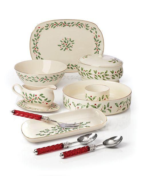 Lenox Holiday Serveware Collection