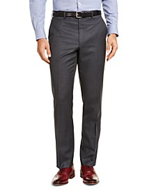 Men's Classic-Fit UltraFlex Stretch Gray Suit Pants