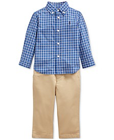 Baby Boys Poplin Shirt & Pants