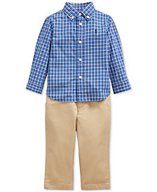Polo Ralph Lauren Baby Boys Poplin Shirt & Pants