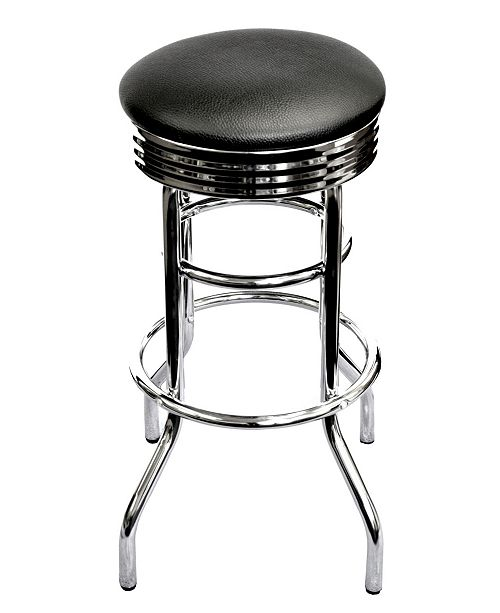TRINITY Chrome Swivel Stool, 2 Pack Assembled
