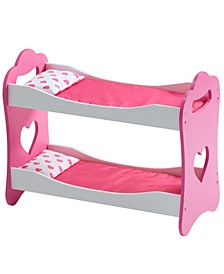 """Olivia's Little World Princess of Hearts Pop Pink 18"""" Doll Bunk Bed"""