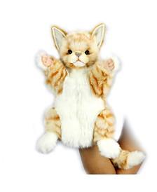 Hansa Cat Hand Puppet Ginger Plush Toy