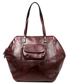 Clam Bay Leather Tote Bag