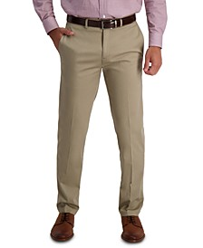 Men's Iron Free Premium Khaki Straight-Fit Flat-Front Pant