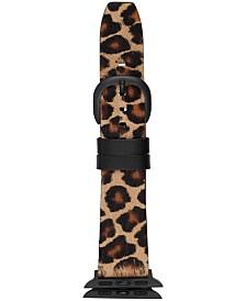 DKNY Women's Pony Faux Leopard Apple Watch® Strap