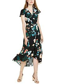 INC Flutter-Sleeve Wrap Maxi Dress, Created For Macy's