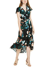I.N.C. Flutter-Sleeve Wrap Maxi Dress, Created For Macy's