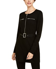 I.N.C. Belted Tunic Sweater, Created for Macy's