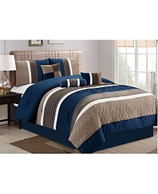 Luxlen Washington 7 Piece Comforter Set, Queen