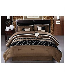 Luxlen Balfour 7 Piece Comforter Set, Queen