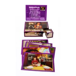 Stages Learning Materials Real Picture Healthy Habits Wooden Cube Puzzle 12 pieces