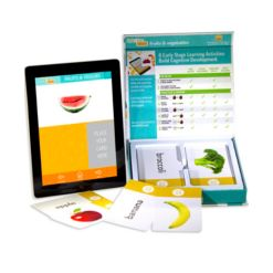 Stages Learning Materials Link4fun Fruits Vegetables Interactive Flashcard Set With Free iPad App