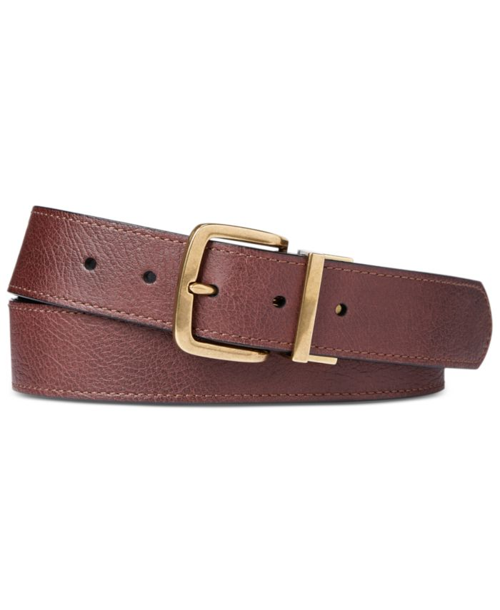Polo Ralph Lauren Men's Reversible Leather Belt & Reviews - All Accessories - Men - Macy's