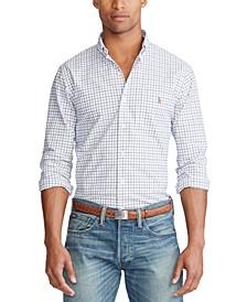 Men's Slim Fit Plaid Stretch Button-Down Shirt