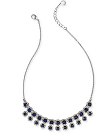 "Pavé & Stone Halo Statement Necklace, 17""+ 2"" extender, Created for Macy's"