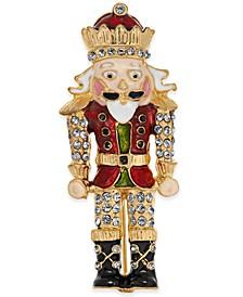 Gold-Tone Crystal Nutcracker Pin, Created for Macy's