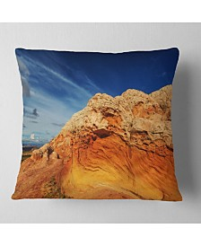 "Designart Coyote Buttes of Vermillion Cliffs Landscape Printed Throw Pillow - 18"" x 18"""