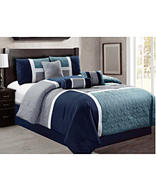 Luxlen Scribner 7 Piece Comforter Set, King