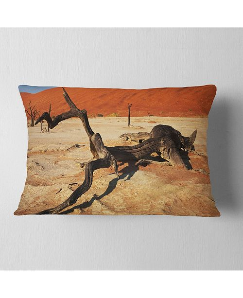 Design Art Designart Decayed Tree In Dead Valley African Landscape Printed Throw Pillow 12 X 20 Reviews Decorative Throw Pillows Bed Bath Macy S