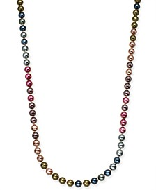"Gold-Tone Imitation Pearl Strand Necklace, 60"" + 2"" extender, Created For Macy's"