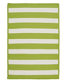 Stripe It Bright Lime 2' x 4' Accent Rug