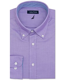 Mens Classic Fit Comfort Stretch Wrinkle Free Solid Dress Shirt