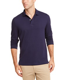 Club Room Men's Long-Sleeve Polo Shirt, Created for Macy's