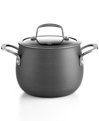 Belgique Hard-Anodized 3-Qt. Soup Pot with Lid, Created for Macy's